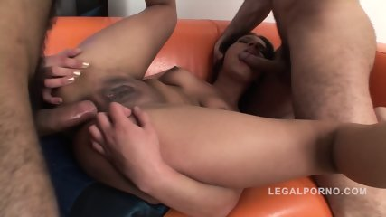 Dirty Slut Fucked By Two Guys