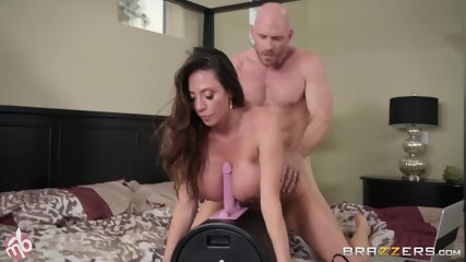 Busty Slut Fucked During Sybian Riding