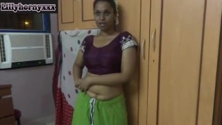 Indian Stepaunty In Saree Undressing And Dildo Fucking Her Pussy