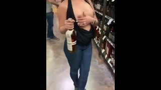 Public Tits – Hard Nipples In The Supermarket