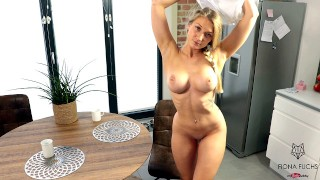 Blond Teen Gets Fucked On The Kitchen Table