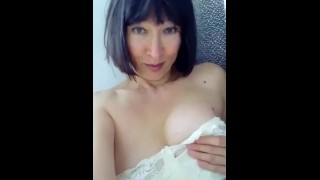 Beautiful Mature Plays With Her Tits