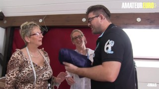 AmateurEuro – Busty German Mature Babes Ride A Thick Cock