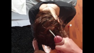 Suck And Jerk Cock | Cum On Her Hair