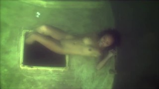 Black Woman Underwater