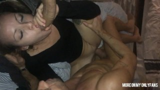 Two Horny Dads Want To Cum In Tina's Mouth
