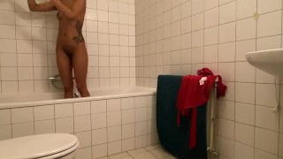 Dutch Girlfriend With Perfect Ass, Caught, Real Spy In The Bathroom