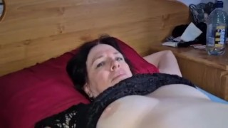Slut Wfe Fingers Her Pussy And She Gives Me A Hand Job