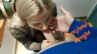 Caught In The Dressing Room During A Blowjob – Letty Black