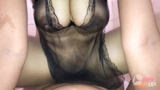 (in Toilet)Thai Mature With Black See Through Ride A Dick.. 30