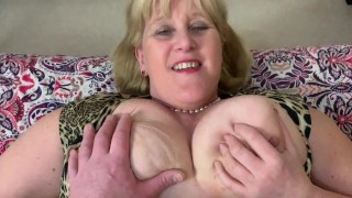Big Tit Hot Mature Mom In Stockings Gives Blow Job And Fucks POV