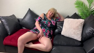 A Filthy Guy Helps Mature English Slut Take Her First Butt Plug.