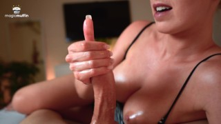 Extremely Hot Girlfriend With Perfect Tits Jerks My Cock