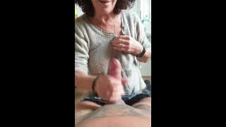 Sexy Mature Made Perfect Skilled Handjob